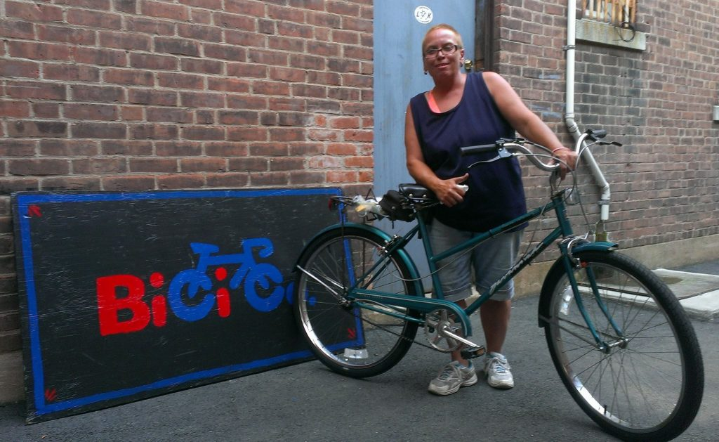Wanda is a wonderful W.T.F. hour volunteer and tuned up this bike to get started