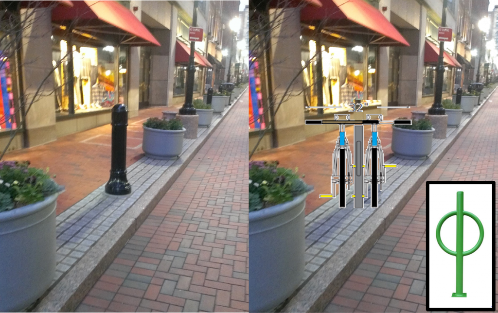 Hartford's Pratt St redesign didn't include bike parking?