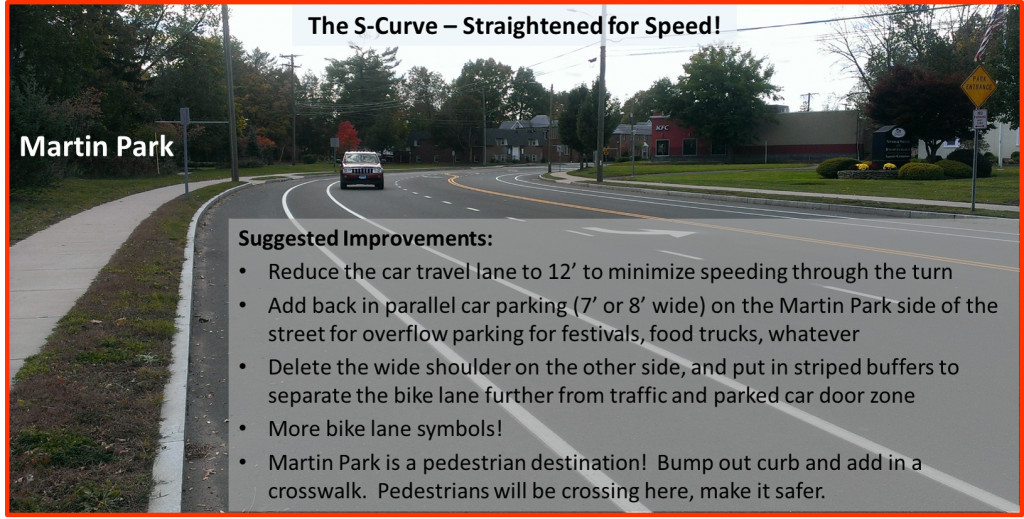 Burnside Ave S-Curve near Martin Park